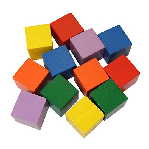 HABA Baby's First Basic Block Set – 12 Colorful Wooden Cubes Made in Germany