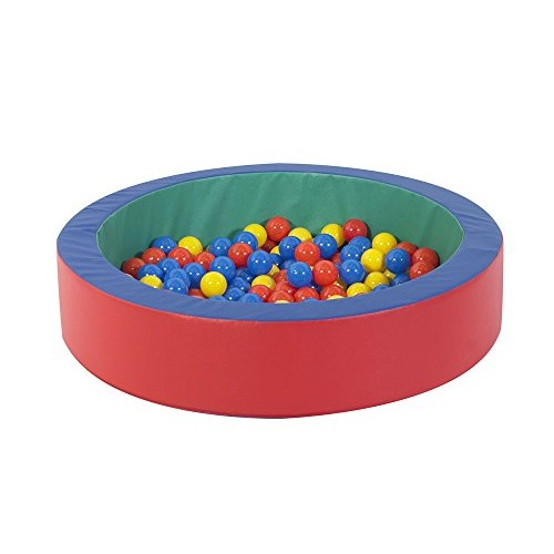 Children's Factory Mini-Nest Ball Pool for Toddlers and Kids Indoor Outdoor Soft Foam Round Pit Baby Play Yard Kiddie Dry