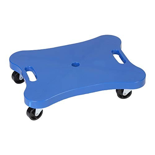 Champion Sports Plastic Scooter Board with Contoured Handles Blue