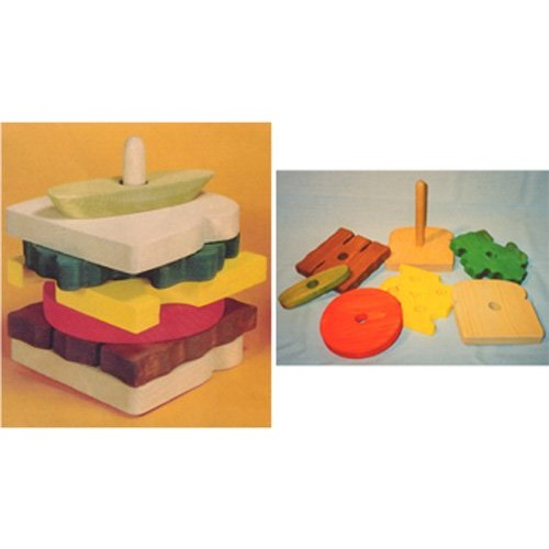 Wooden Educational Stack Toy – Sandwich