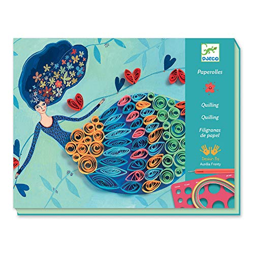 DJECO Spiral Seasons Quilling Paper Craft Kit