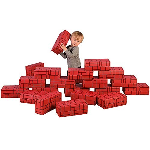 Constructive Playthings Giant Stacking Blocks for Indoor Play Set of 12