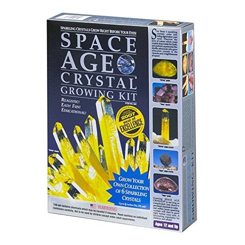 Space Age Crystal Growing Kit 6 Crystals Citrine and Topaz