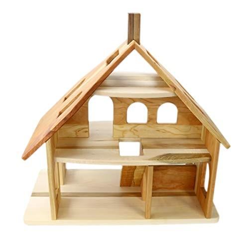 Camden Rose Three Story Cherry Wood Dollhouse