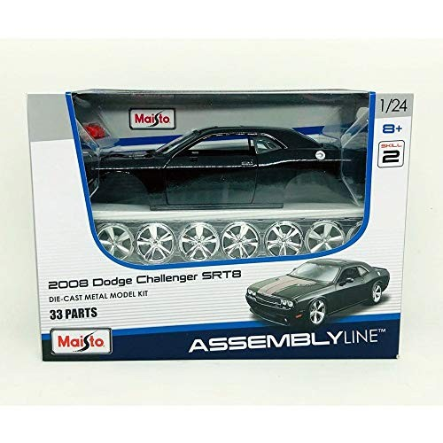 Maisto 1:24 Scale Assembly Line 2008 Dodge Challenger SRT8 Diecast Model Kit (Colors May