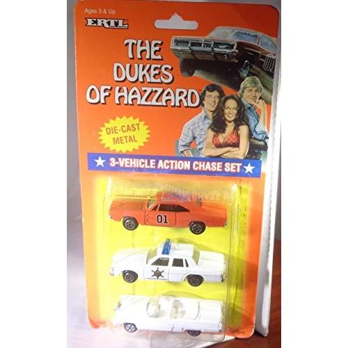 Dukes of Hazzard Hazzard County Car Set General Lee Boss Hogg Daisy