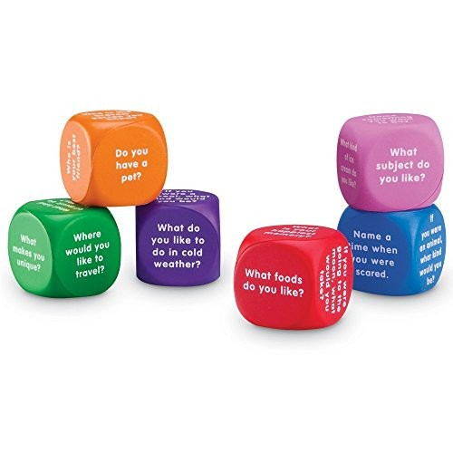 Learning Resources Conversation Cubes Social Dice Autism Therapy Ice Breaker Foam 6 Pieces Ages 6+