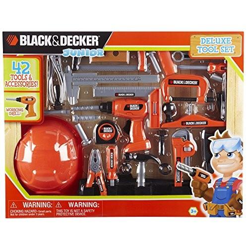 Black & Decker Jr Deluxe Tool Set with Hardhat