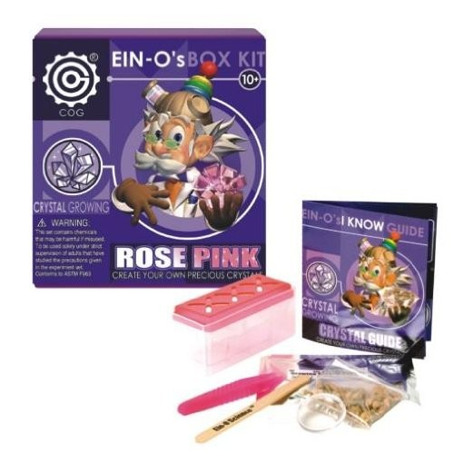TEDCO Ein-O's Rose Pink Crystal Growing Box Kit
