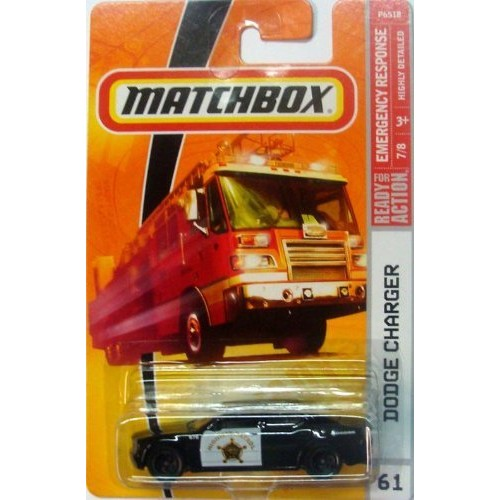 MATCHBOX READY FOR ACTION EMERGENCY RESPONSE #61 DODGE CHARGER POLICE CAR 7 OF 8