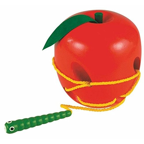 Woodyland 11 cm Didactic Toys Lacing Apple and Worm