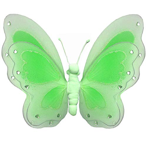 Hanging Butterfly Large 13 Green Painted Nylon Mesh Butterflies Decorations Decorate Baby Nursery Bedroom Girls Room Ceiling Wall Decor Wedding Birthday Party Shower Bathroom Kids 3D Art DIY