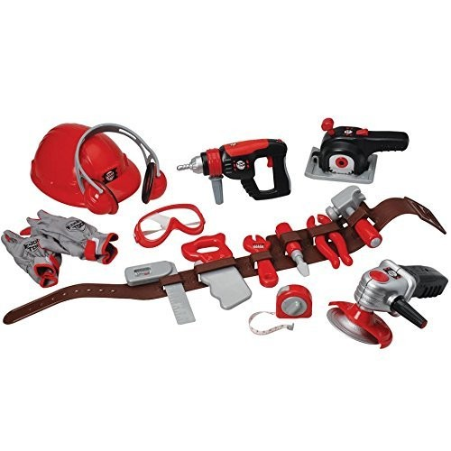 CP Toys Pretend Play Tools of the Trade with Tool Belt and Accessories