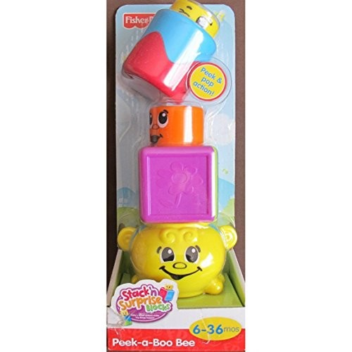 Fisher-Price Stack 'n Surprise Blocks – Peek-a-Boo Bee