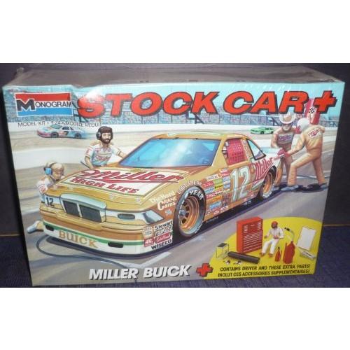 Monogram Kit #2915 Miller Buick Stock Car 1/24 Scale Plastic Model Kit-NISB