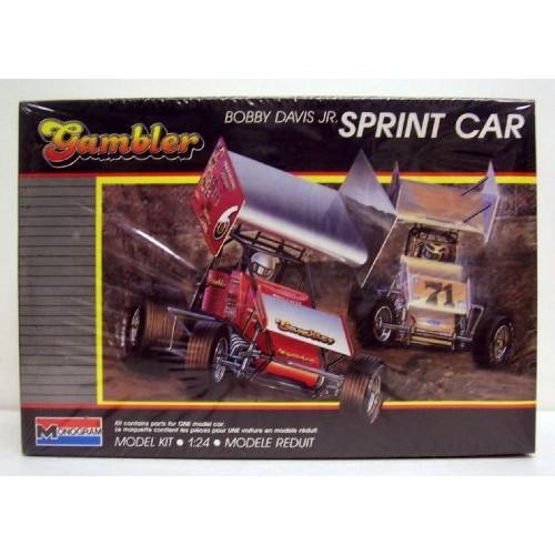 Monogram #2777 Bobby Davis Jr Gambler Sprint Car 1/24 Plastic Model Kit