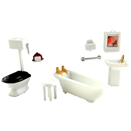 1/4 inch Scale BathRoom Set – Dollhouse Miniature