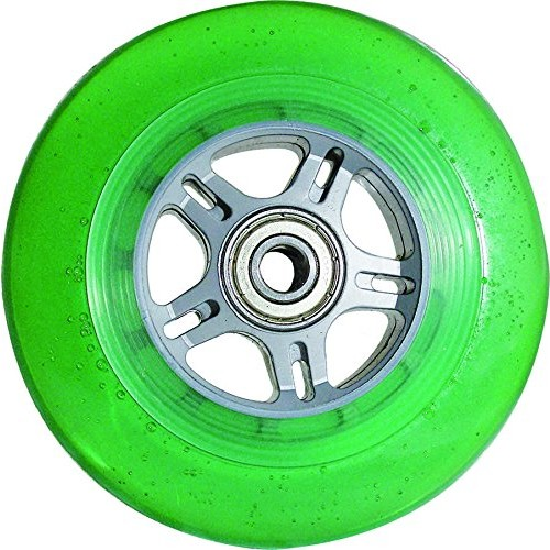 Curb Dog Scooter Wheels Green 100mm with Sealed Cartridge Bearings Pair