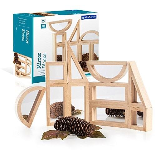 Guidecraft Mirror Blocks Set – 10 Pcs Kids Learning & Educational Toys Stacking