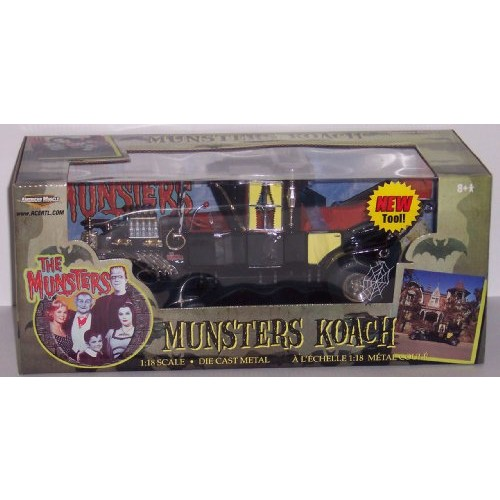 The Munsters Munsters Koach 1:18th Scale Die Cast Metal Collectors Car
