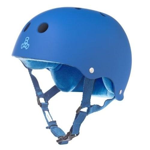 Triple Eight Sweatsaver Liner Skateboarding Helmet Royal Blue Rubber Medium