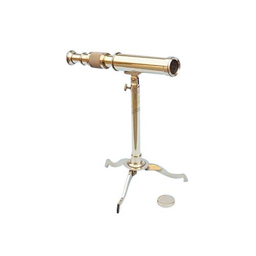 Brass Telescope on Stand 17 – Floor Standing Telescopes Nautical Decor Home Decoration Executive Promotional Gift