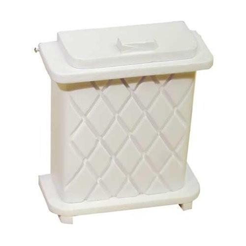 Dollhouse White Wood Laundry Basket Clothes Hamper Miniature 1:12 Accessory
