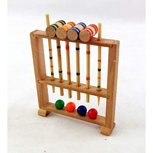 Dollhouse Miniature Croquet Set