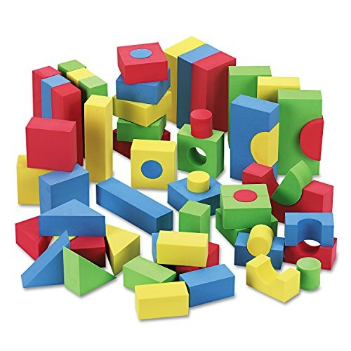 Chenille Kraft 4380 WonderFoam Blocks Assorted Colors 68 Pack