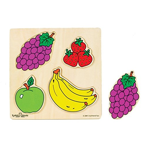Small World Toys Ryan's Room Wooden Puzzles – Fruit 4 Pc