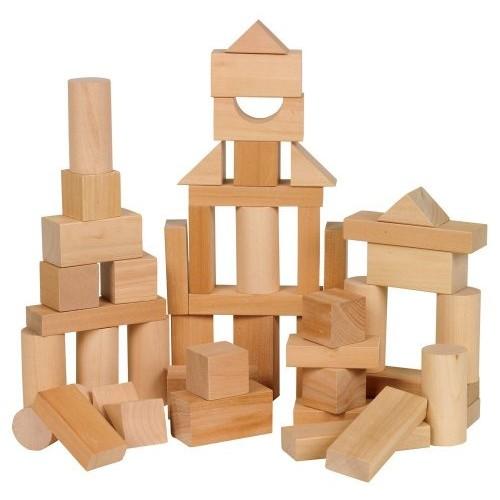 Ryans Room Small World Toys Wooden -Bag O' Blocks