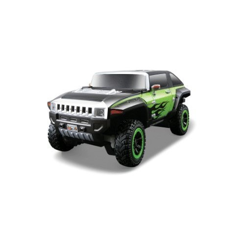 Maisto 1:24 Hummer Hx Black/Green Remote Control Car