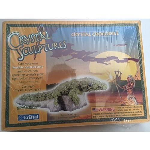 Crystal sculptures crocodile