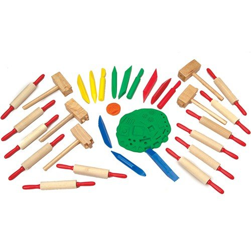 Constructive Playthings Clay Works Assorted Cutting Tools for Kids