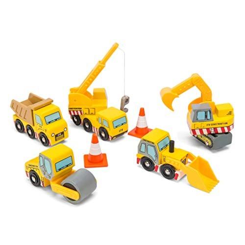 Le Toy Van Wooden Construction Vehicles Set