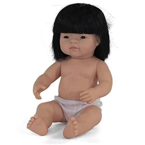 Miniland Educational – 15'' Anatomically Correct Baby Doll Asian Girl