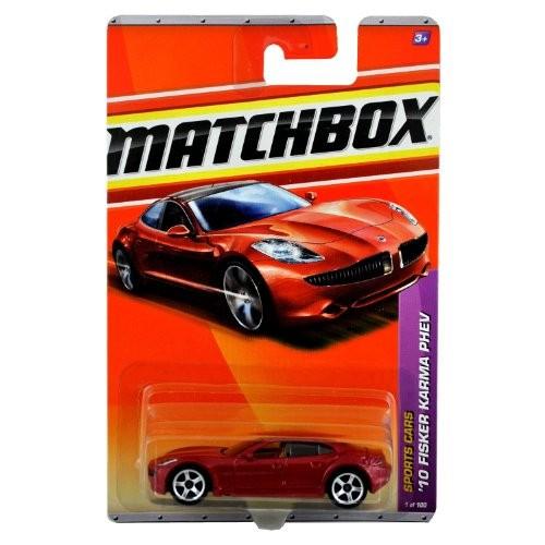 Matchbox 2011-1 Fisker Karma '10 Phev Sports Cars Series BURGUNDY/RED 1:64 Scale