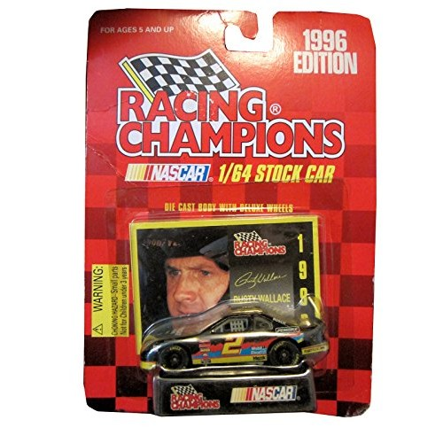 Racing champions 1/64 scale diecast stock car #2 Rusty Wallace with collectible card 1996