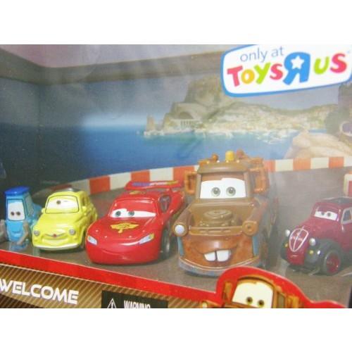 Disney / Pixar CARS 2 Movie Exclusive Die Cast Car 5Pack Porto Corsa Welcome