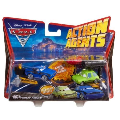Cars 2 Action Agents Battle Pack Rod Redline and Acer