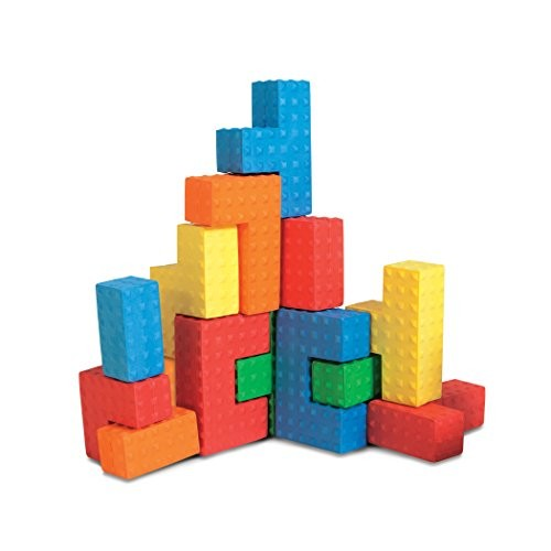Edushape Easy Grip Soft Foam Sensory Puzzle Blocks 18 Piece