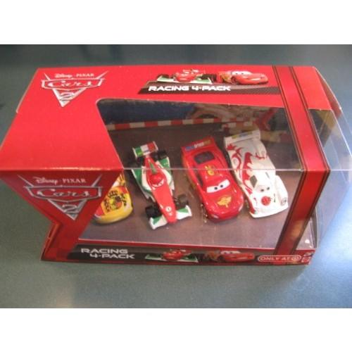 1:55 Scale Disney Cars 2 Movie Four Car Set 4-piece set features Lightning McQueen