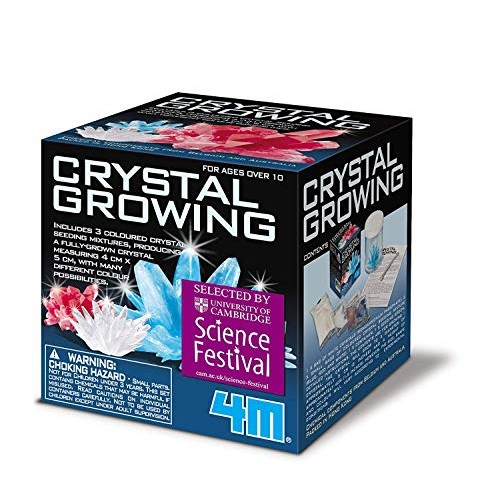 Crystal Growing Science Kit – Easy DIY STEM Toys Lab Experiment Specimens A Great Educational Gift for Kids & Teens Boys Girls