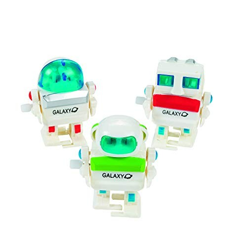 Fun Express Wind-Up Robots 1 Dozen Party Favors Decorations Easter Basket Fillers Stocking Stuffers Novelty Toys