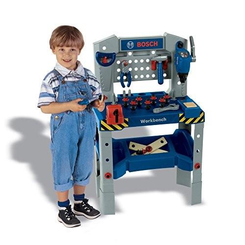 Theo Klein Bosch Adjustable Height Toy Workbench with Sound