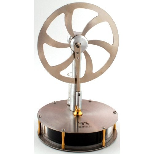 Low Temperature Stainless Steel Stirling Engine Model Tested Before Shipping