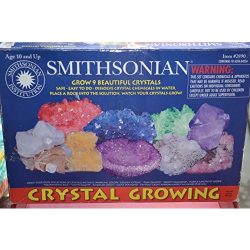 SMITHSONIAN CRYSTAL GROWING ~ GROW 9 BEAUTIFUL CRYSTALS