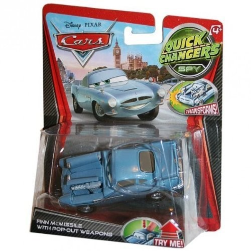 Disney / Pixar CARS 2 Movie 1:55 Quick Changers Spy Finn McMissile with Pop-Out