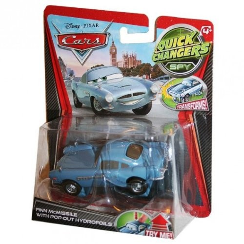 Disney – Pixar Cars 2 Movie 1:55 Quick Changers Spy Finn Mcmissile With Pop-out