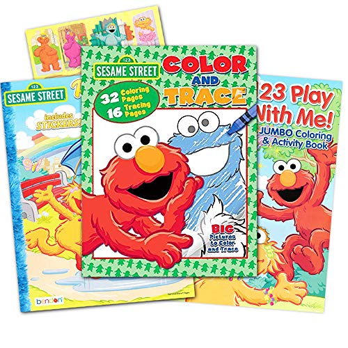 Sesame Street Ready Set Color Coloring and Activity Book with 30 Stickers 144 Pages